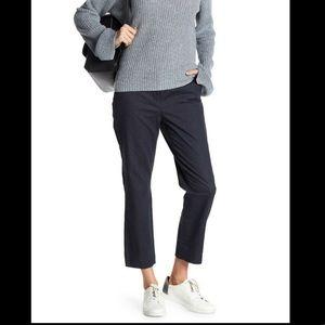 Halogen Plaza Denim Crop Stretch Cotton Pants 12